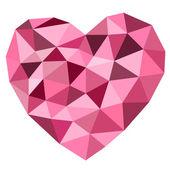 Edge heart shape on white background — Vettoriale Stock