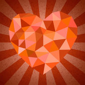 Edge heart shape — Stock Vector