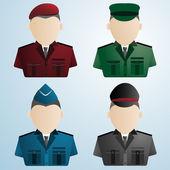 Cartoon police soldiers — Stock Vector