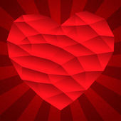 Edge heart shape vintage — Stock Vector