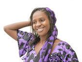 Beautiful African woman wearing a traditional dress — Stock Photo