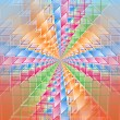Stock Photo: Complex hypercubes - Abstract geometrical background