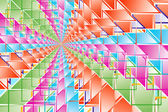 Complex hypercubes - Abstract geometrical background — Stock Photo