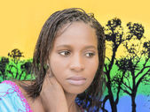 Beautiful young African woman — Stockfoto
