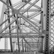 Stock Photo: Americmetallic bridge, New Jersey, USA, monochrome