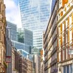 arquitetura de Londres, distrito de negócios, design futurista — Fotografia Stock  #39572117