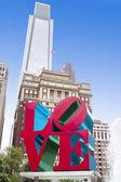 Love Park, Philadelphia, Pennsylvania, USA — Stock Photo