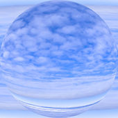 New planet and atmosphere, allegoric depiction of the sky — Stock Photo