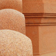Sandstone balustrade. — Stock Photo