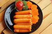 Sausage - Snack. — Stock Photo
