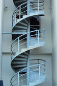 Spiral staircase with gray sky — Stock Photo