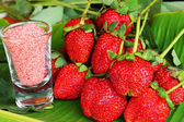 Strawberry fruit berries - Salt and plum sauce — Stock Photo