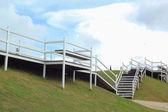 White ladder against the sky. — Stock Photo