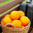 Citrus fruits in the basket. — Stock Photo