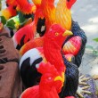 Stock Photo: Sculptures chicken.