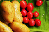 Fresh vegetable- Potato - Tomato — 图库照片