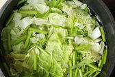 Fresh vegetables - green leafy vegetables - lettuce. — Stock Photo