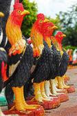 Sculptures chicken. — Stock Photo
