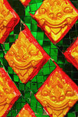 Architectural pattern in Thailand temple walls. — Stock Photo