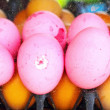 Preserved egg with egg - egg pink. — Stock Photo
