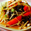 Papaya salad - serve with fresh vegetables. — Foto de Stock