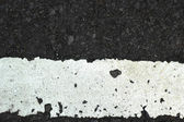 White line on the road texture — Stock Photo
