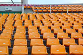 Seat grandstand in an empty stadium. — Foto Stock