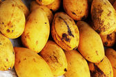 Ripe yellow mango fruit in the market. — Stock Photo