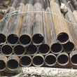 Stack of steel pipes in industrial — Stock Photo