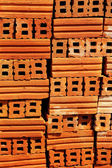 Brown brick for construction background texture — Stock Photo