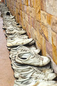 Old shoe white - are row — Stock Photo