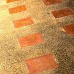 Tile flooring is a long corridor. — Stock Photo #36292653