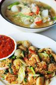 Seafood vermicelli soup - Sukiyaki- Stir dry. — Stock fotografie
