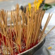 Incense sticks in an altar at temple — Stock Photo