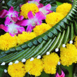 Kratong made from banana leaves and flowers. — Stock Photo #36482455