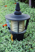 Lantern in the park and trees. — Stock Photo