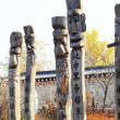 Statues of wood, in South Korea. — Stock Photo
