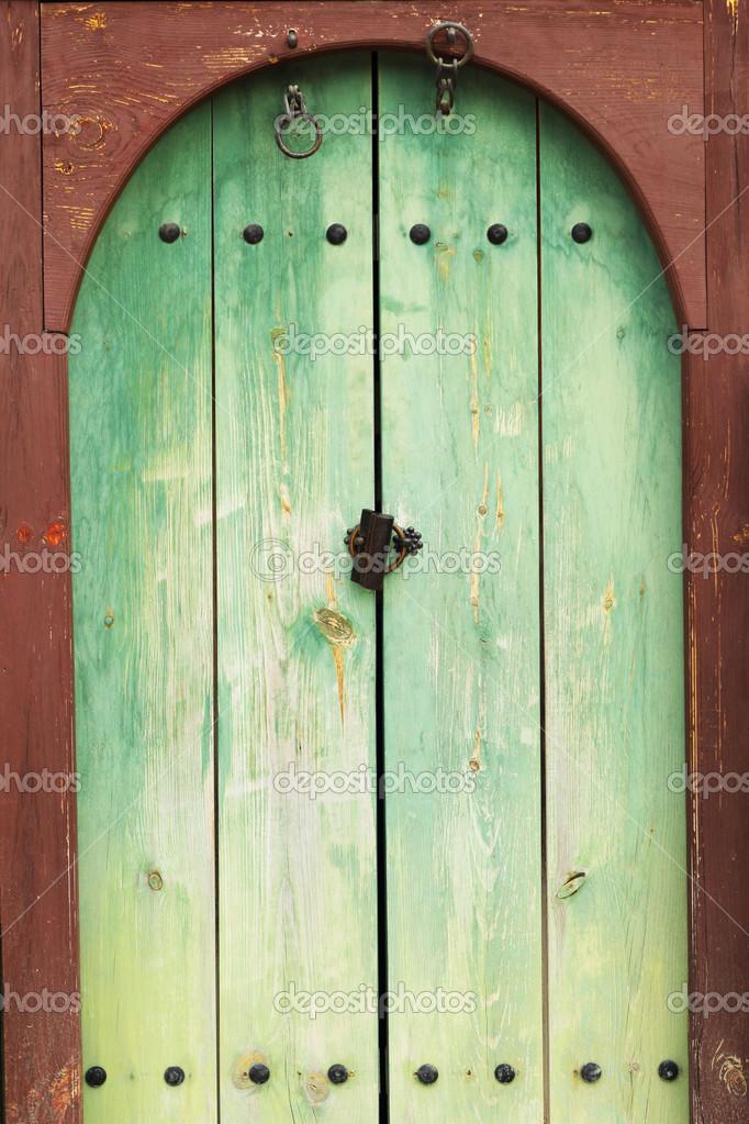 Puerta verde estilo vintage foto de stock seagamess for Puertas vintage