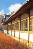 在韩国民俗村的旧式房子 — 图库照片