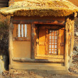 Stock Photo: Old wooden house model Korean