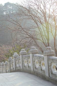 Long concrete bridge head at Seoraksan Korea. — Stock fotografie
