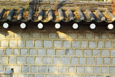 Walls and roofs Vintage Style Korea. — Foto Stock