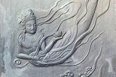 Superficie de pared de bronce estilo del templo en corea. — Foto de Stock