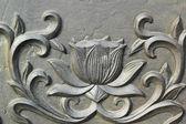 Ytan av stil brons väggen i templet i korea. — Stockfoto