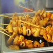 Stock Photo: Oden at market Korean