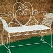 Bench chair white in the park — Stock Photo #37756907
