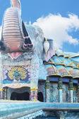 Temple elephant sculpture - measuring Thailand. — Stock Photo