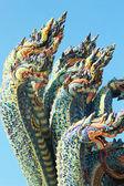 Thai dragon, King of Naga statue in Temple Thailand. — Stock Photo