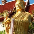 Gold statue of Guan Yin temple Thailand. — Stock Photo #37912219