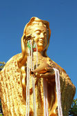 Gold statue of Guan Yin at the temple — Zdjęcie stockowe